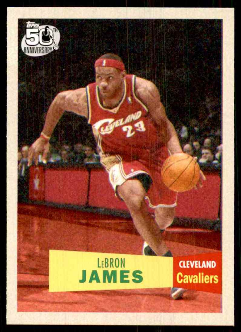 2007-08 Topps 1957-58 Variations Lebron James #23 card front image