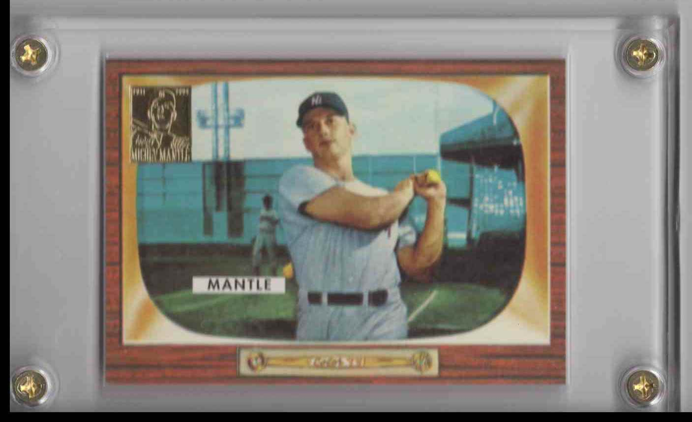 1996 Topps Mickey Mantle Commemorative Set Mickey Mantle #5 card front image