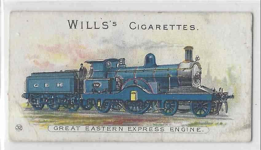 1901 Will's Locomotives & Rolling Stock Great Eastern Express Engine #32 card front image