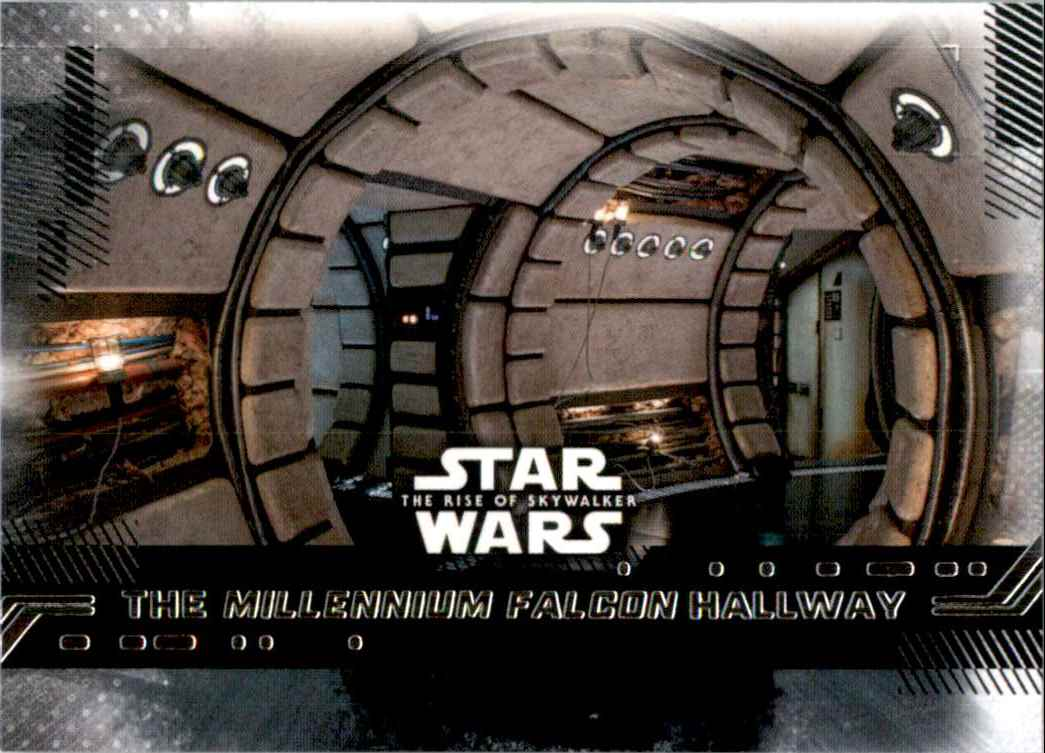 2019 Star Wars The Rise Of Skywalker Series One The Millennium Falcon Hallway #91 card front image