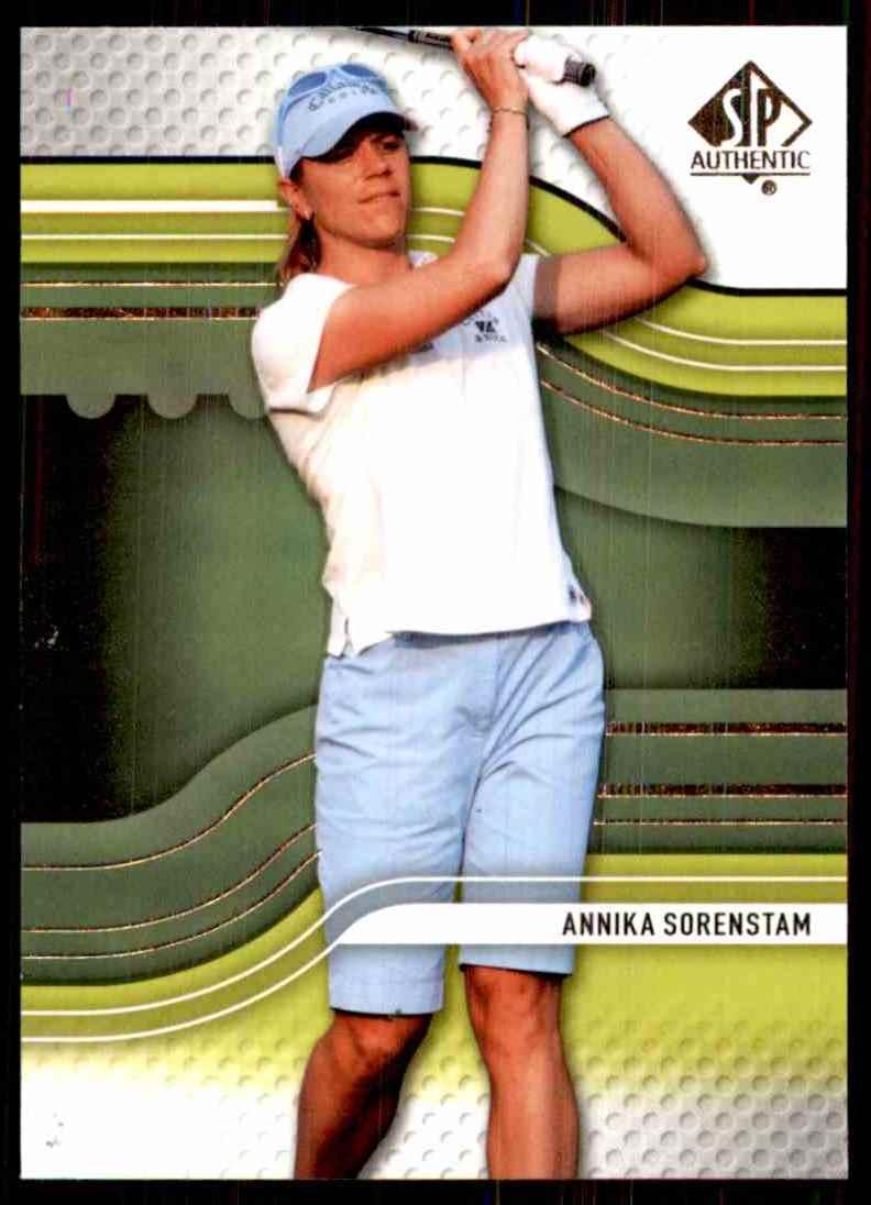 2012 SP Authentic Annika Sorenstam #4 card front image