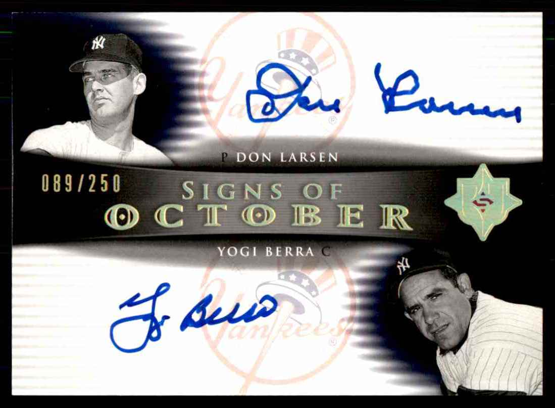 2005 Upper Deck Ultimate Signature Edition Don Larsen Yogi Berra card front image