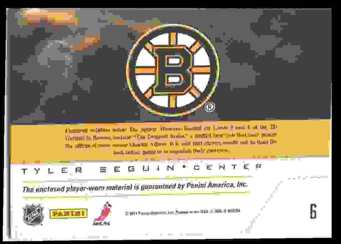 2011-12 Pinnacle Game Night Tyler Seguin #6 card back image