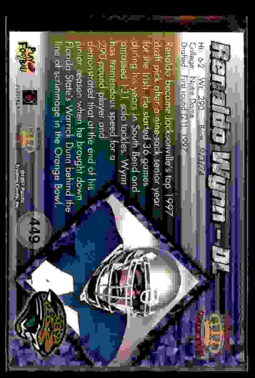 1997 Pacific Renaldo Wynn #449 card back image