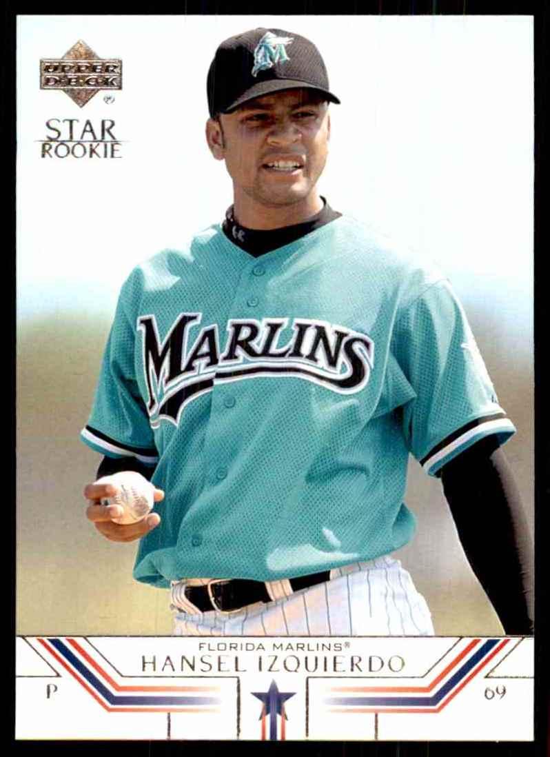 2002 Upper Deck Hansel Izquierdo Sr RC #526 card front image