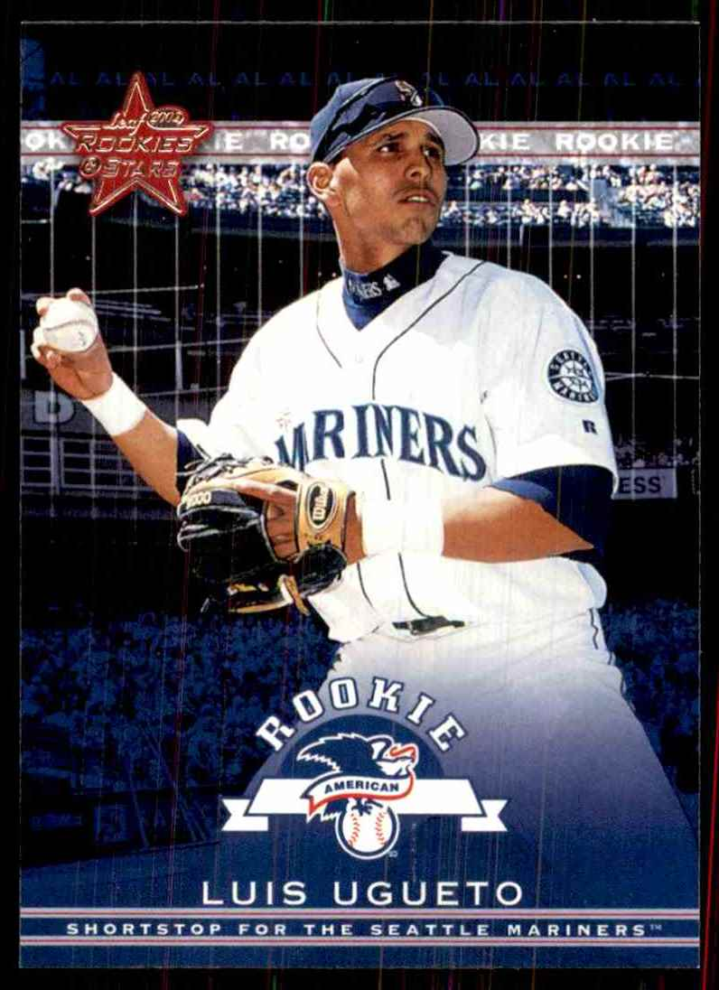 2002 Leaf Rookies & Stars Luis Ugueto Rs RC #310 card front image