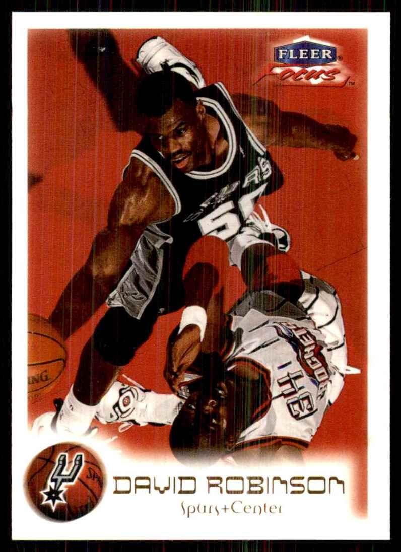 1999-00 Fleer Focus David Robinson #32 card front image