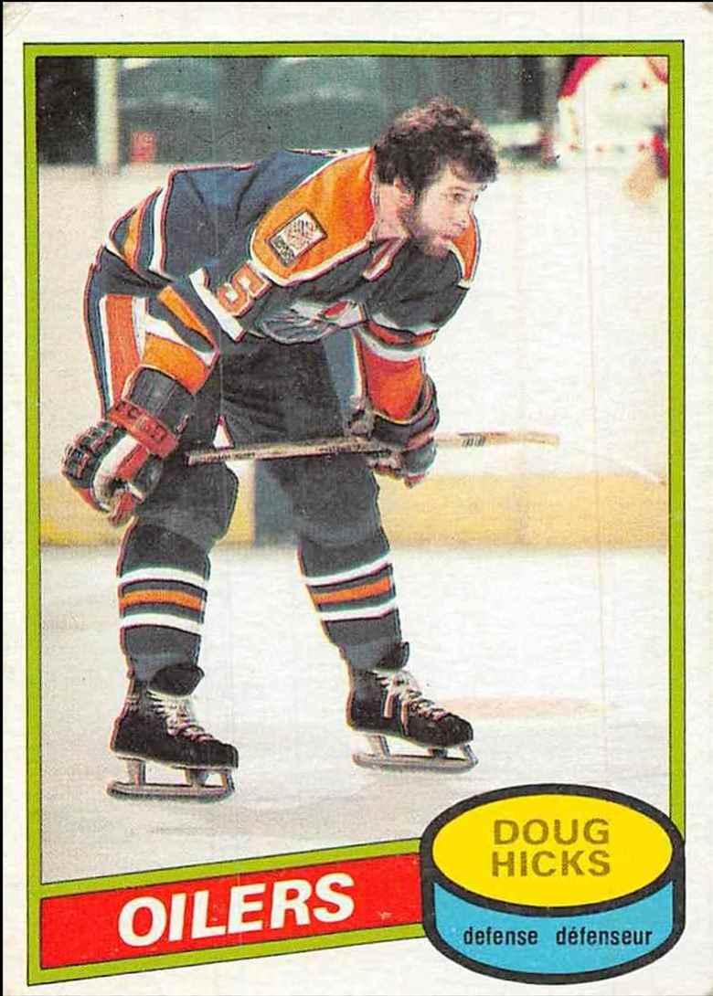 1980-81 O-Pee-Chee Doug Hicks #221 card front image