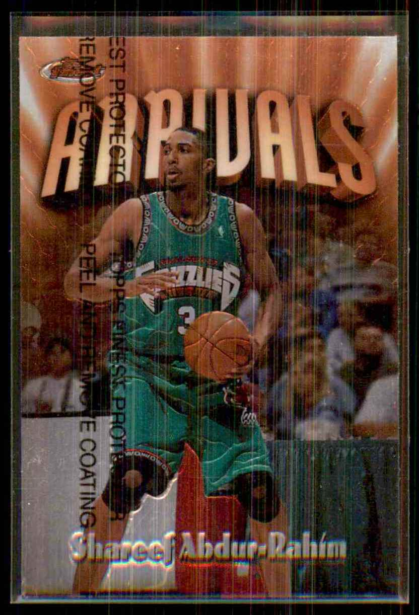 1997-98 Finest Shareef Abdur-Rahim B #225 card front image