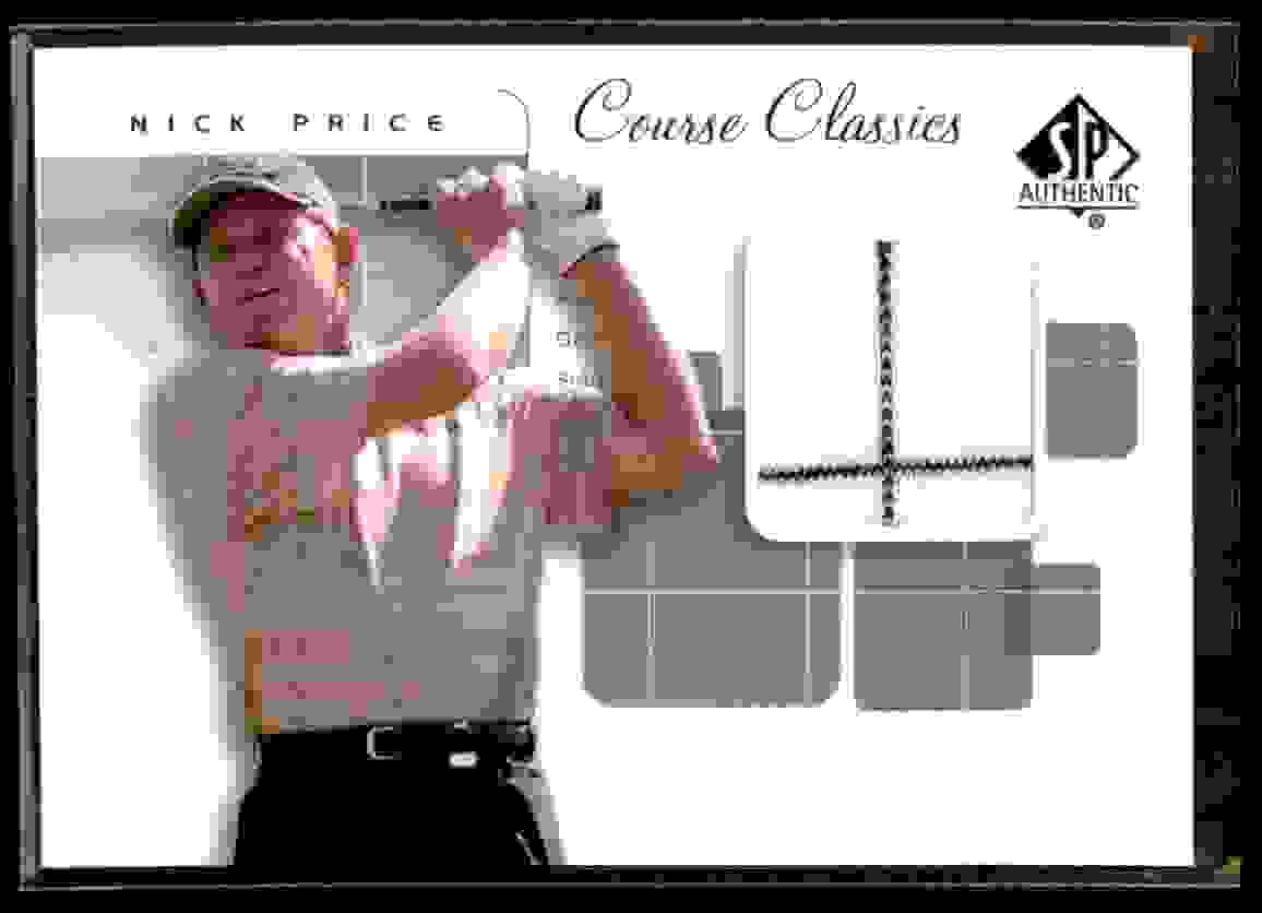 2002 SP Authentic Course Classics Game-Used Shirt Cards Nick Price #CCNP card front image