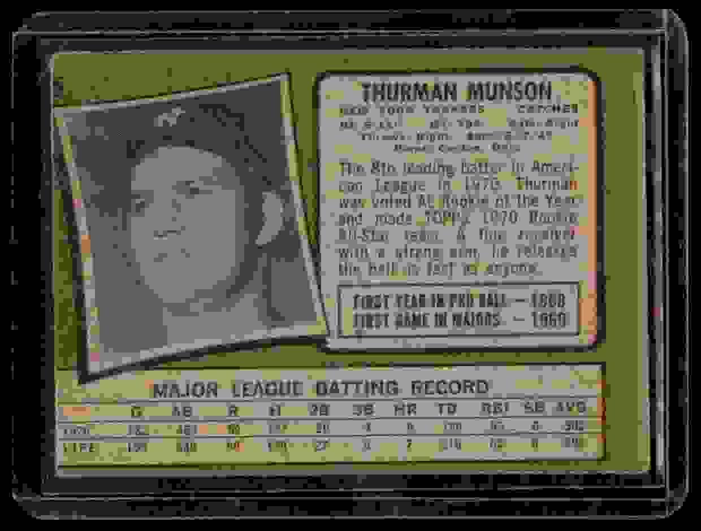 1971 Topps Thurman Munson #5 card back image