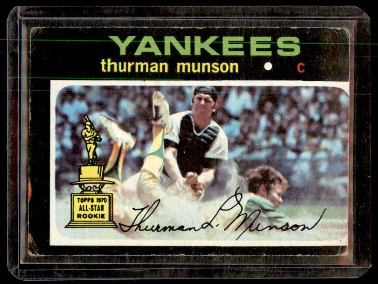 1971 Topps Thurman Munson #5 card front image
