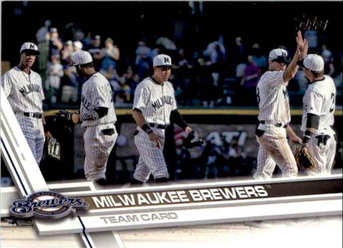 2017 Topps Series 2 Milwaukee Brewers TC #557 card front image