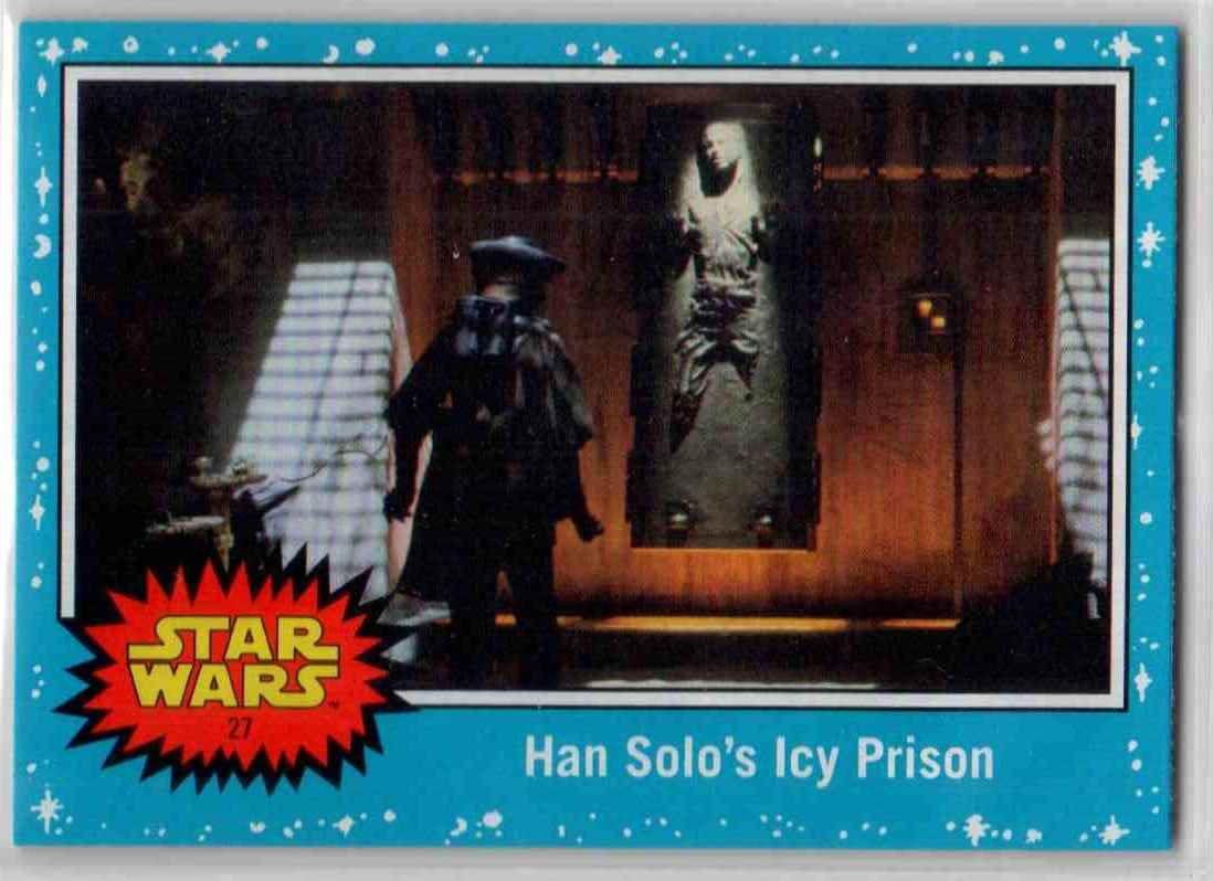 2019 Topps Star Wars Journey To Rise Of Skywalker Han Solo's Icy Prison #27 card front image