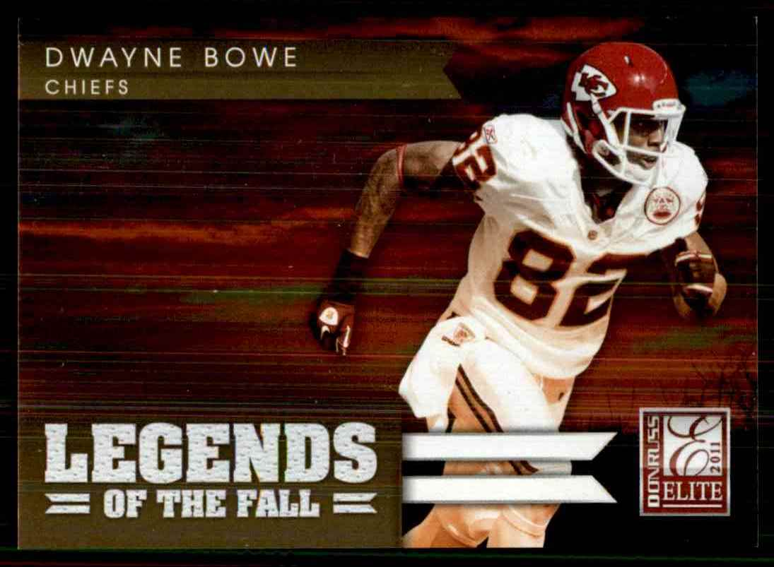2011 Donruss Elite Legends Of The Fall Gold Dwayne Bowe #7 card front image