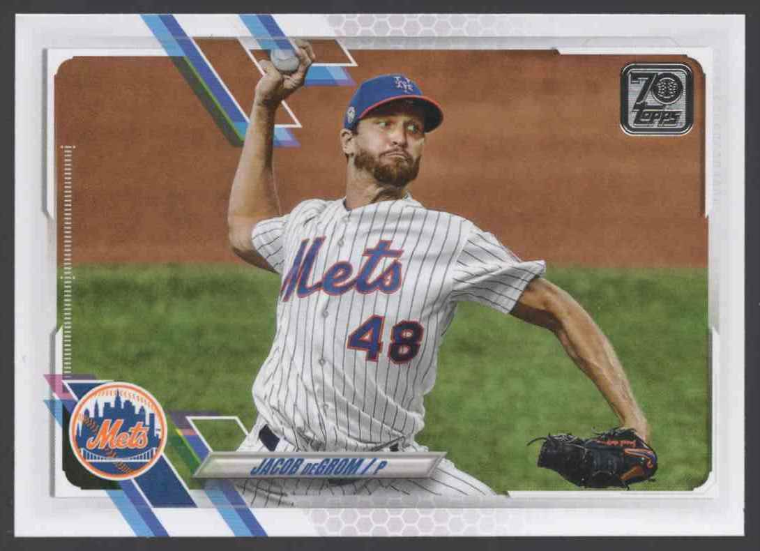 2021 Topps Jacob DeGrom #200 card front image