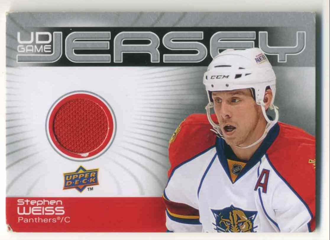 2009-10 Upper Deck Game Jersey Stephan Weiss #GJ-WE card front image