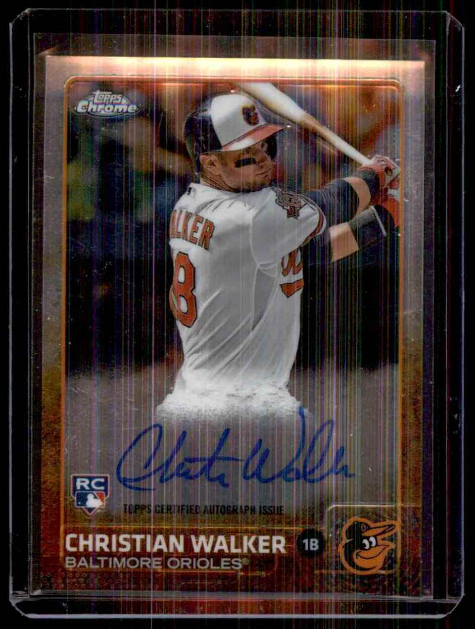 2015 Topps Chrome Rookie Autographs Christian Walker #ARCW card front image
