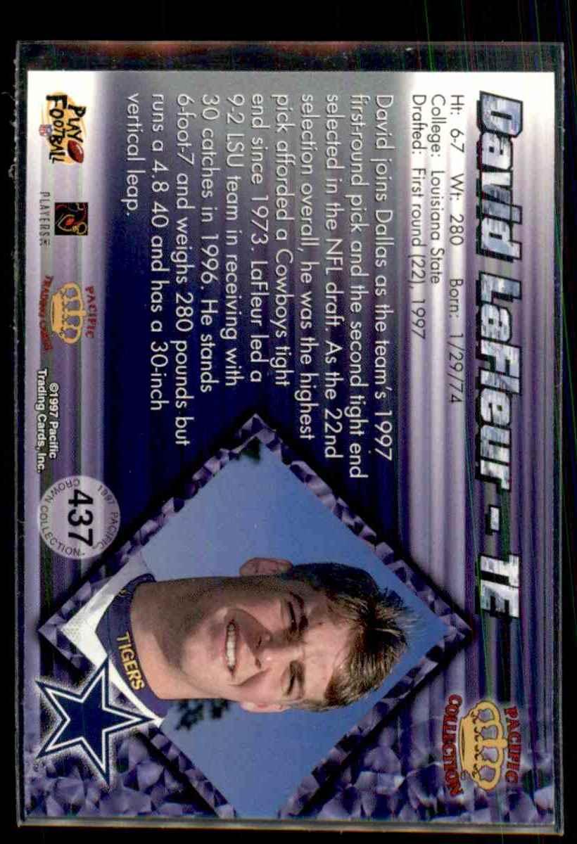 1997 Pacific David Lafleur #437 card back image