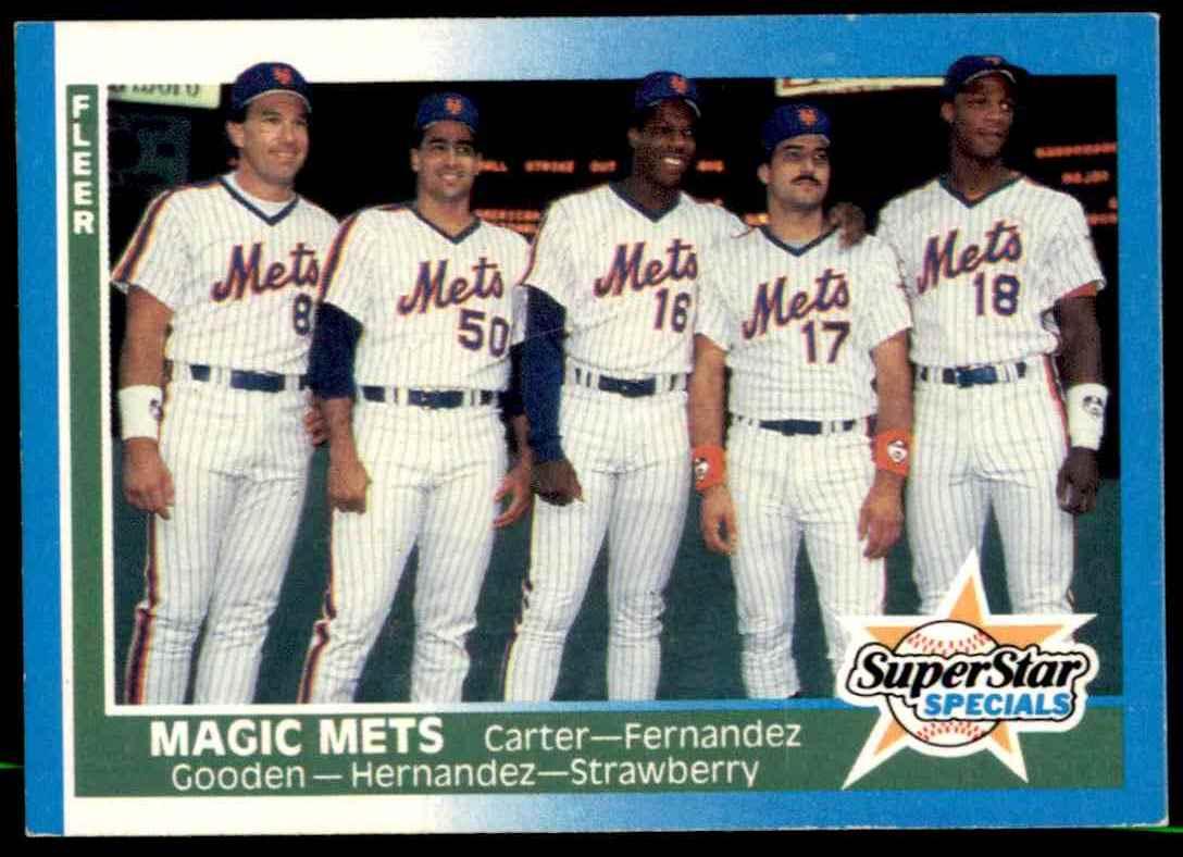 1987 Fleer Baseball Gary Carter Sid Fernandez Dwight