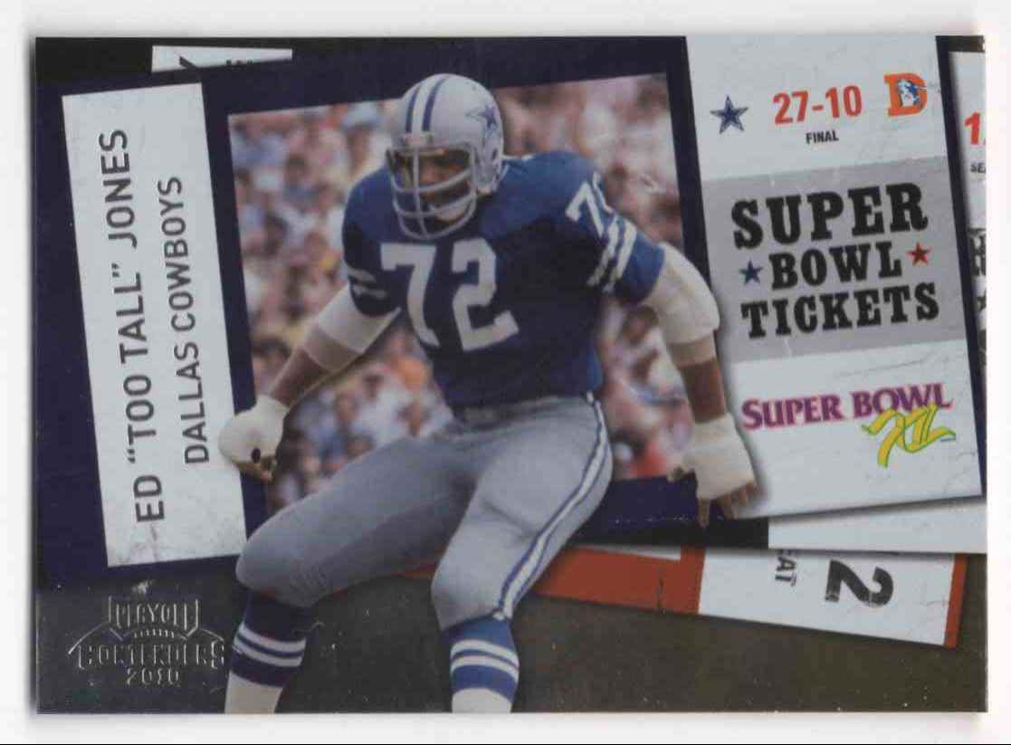 newest 4437c 25e2a 2010 Playoff Contenders Super Bowl Tickets Ed 'Too Tall& ...