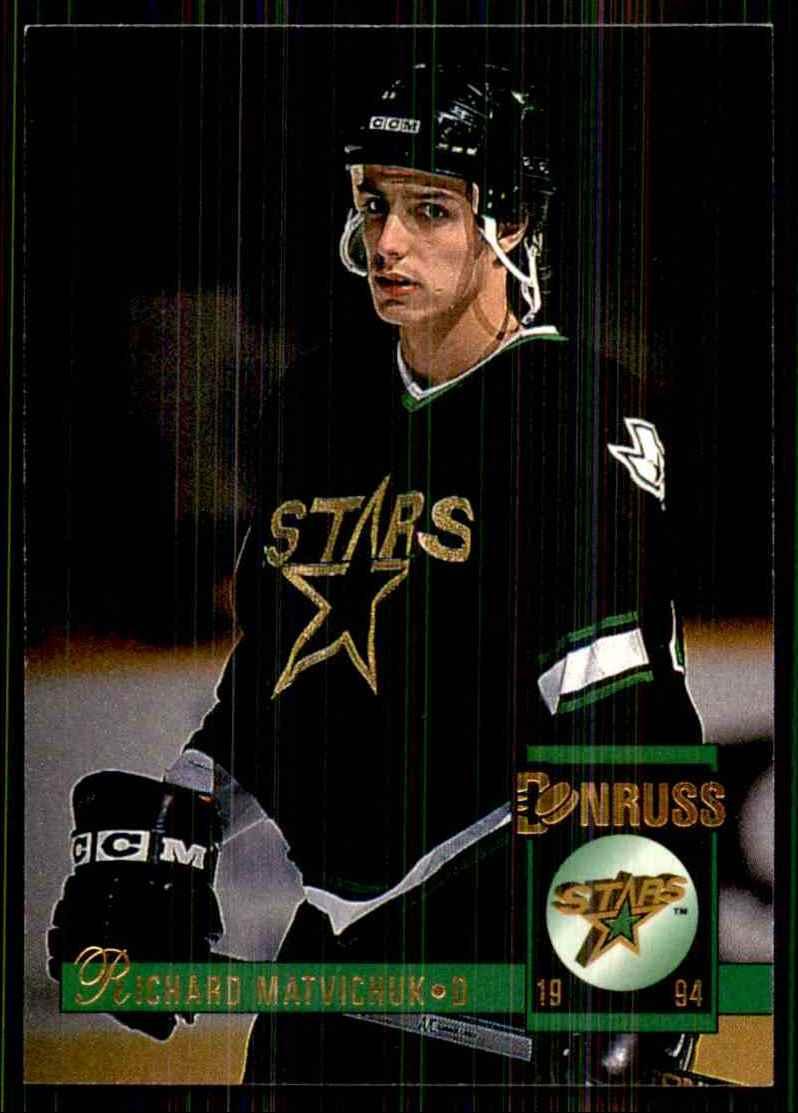 1993-94 Donruss Richard Matvichuk #418 card front image