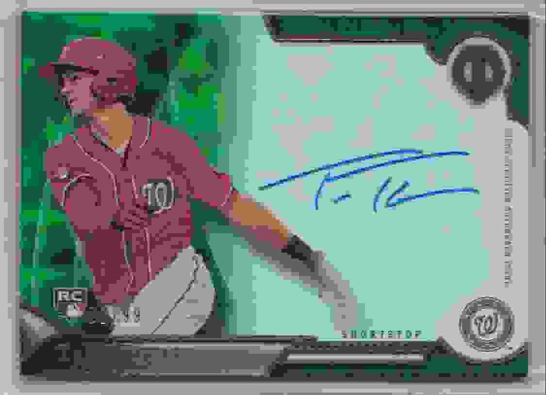 2016 Topps Tribute Tribute Autograph Green Trea Turner #TA-TTU card front image