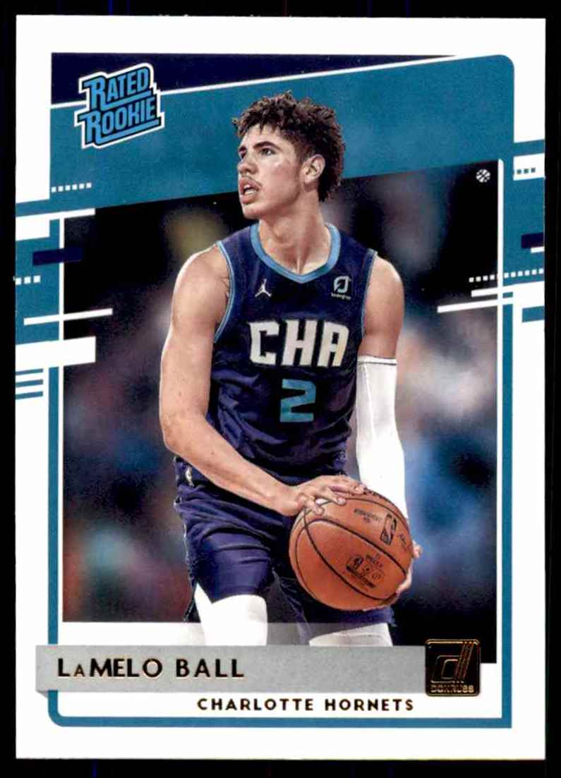 2020-21 Donruss LaMelo Ball Rr RC #202 card front image