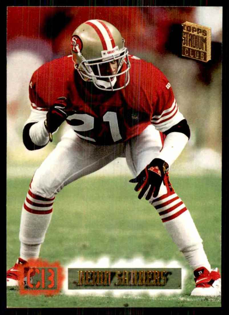1994-95 Stadium Club Deion Sanders #600 card front image