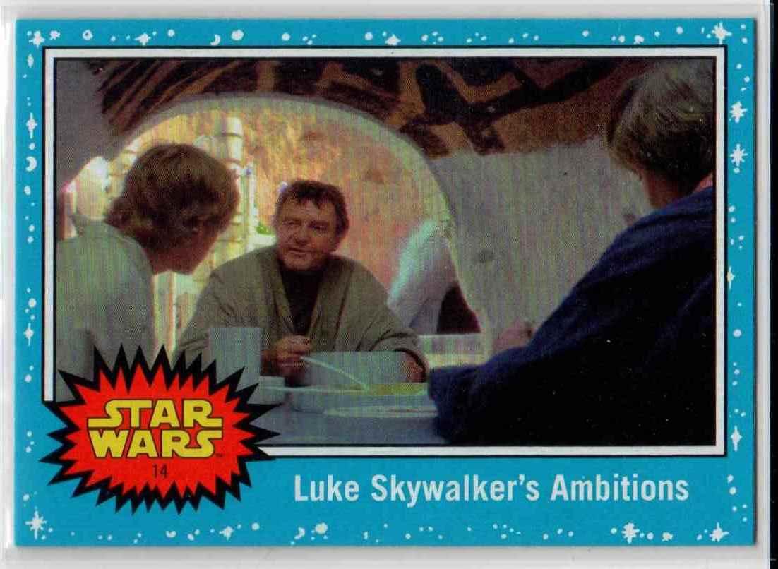 2019 Topps Star Wars Journey To Rise Of Skywalker Luke Skywalker's Ambitions #14 card front image