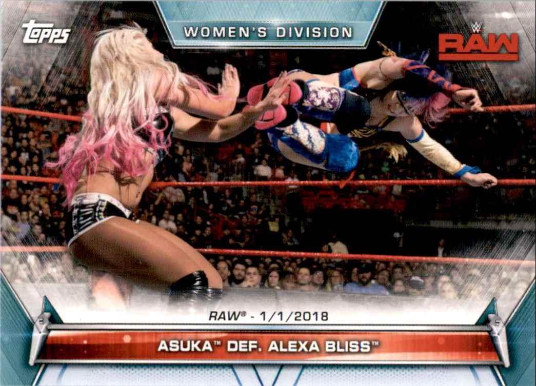 2019 Topps Wwe Women's Division Asuka Def. Alexa Bliss #61 card front image
