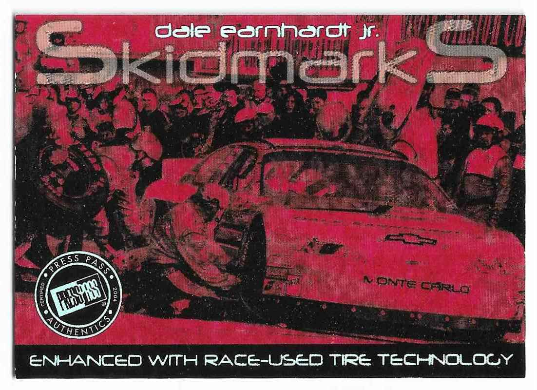 2004 Press Pass Eclipse Skidmarks Dale Earnhardt JR. #PSM 7/18 card front image