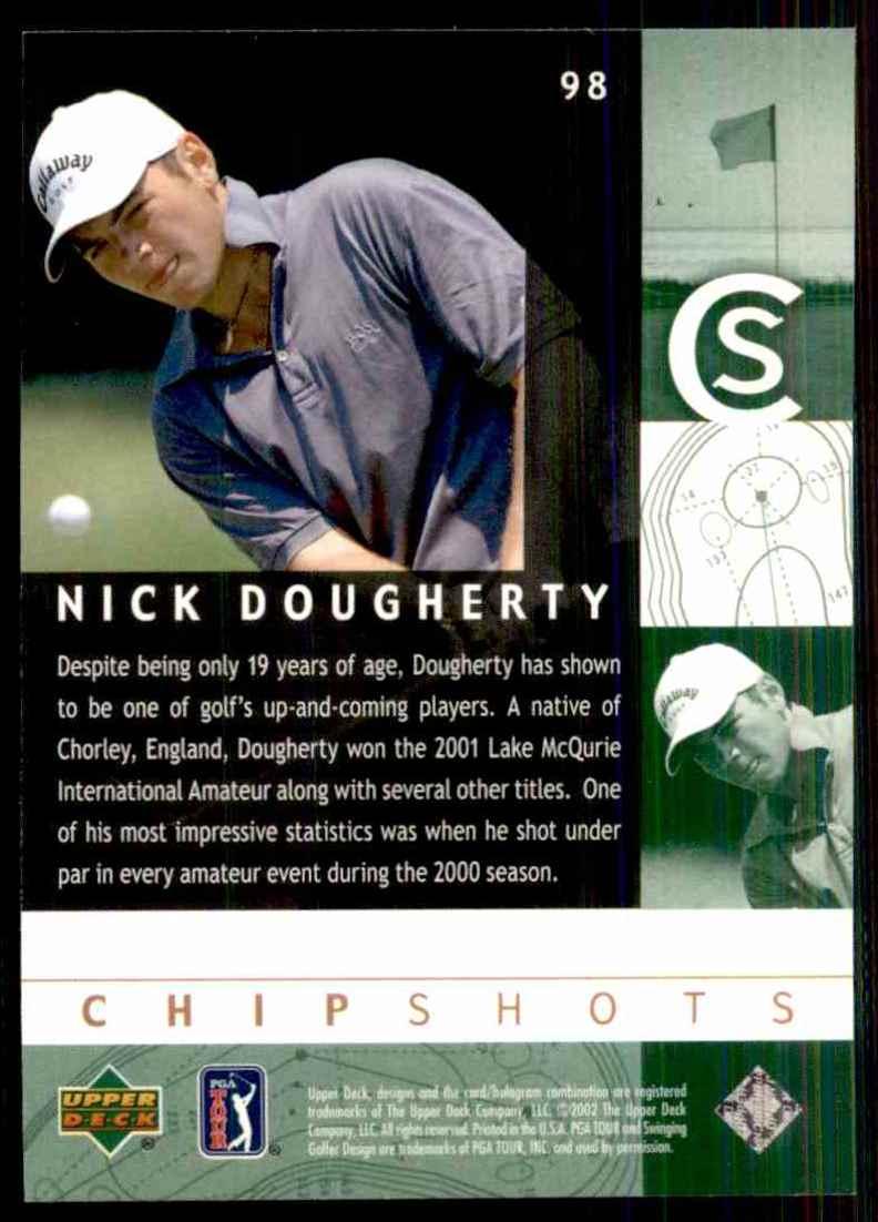 2002 Upper Deck Nick Dougherty Cs RC #98 card back image