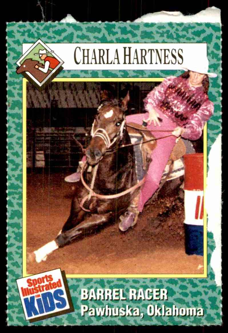 1990-91 Sports Illustrated For Kids Charla Hartness/Barrel Racing #141 card front image