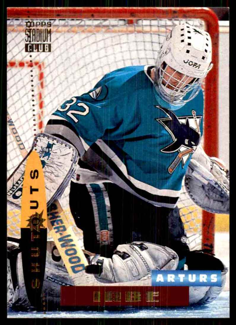 1994-95 Stadium Club Arturs Irbe So #190 card front image