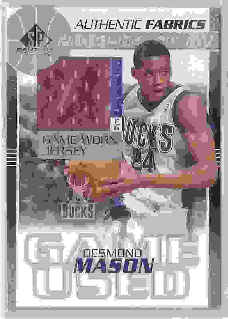 2003-04 SP Game Used Authentic Fabrics Desmond Mason #DMJ card front image