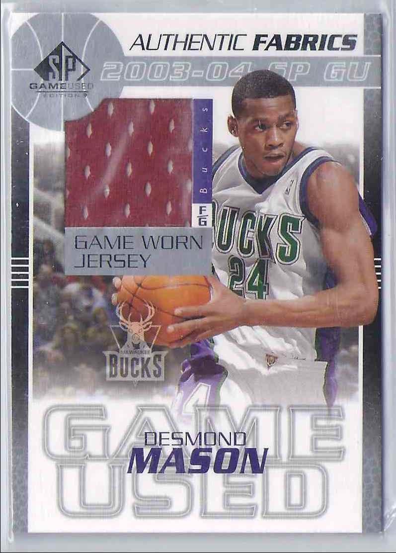 2003-04 SP Game Used Authentic Fabrics Desmond Mason #DMJ card front image