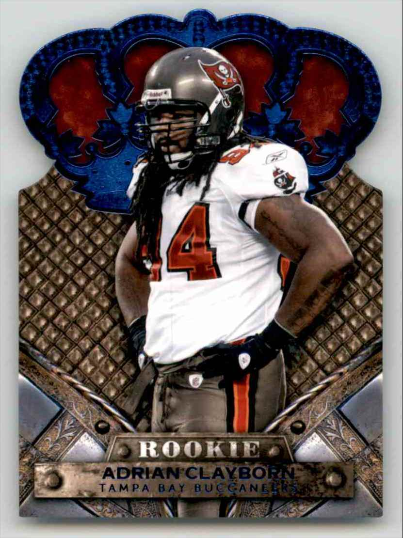2011 Crown Royale Blue Adrian Clayborn #102 card front image