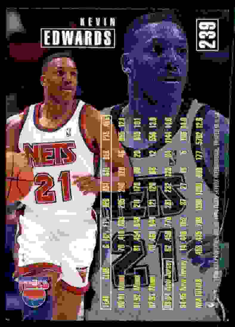 1995-96 Fleer Kevin Edwards #239 card back image