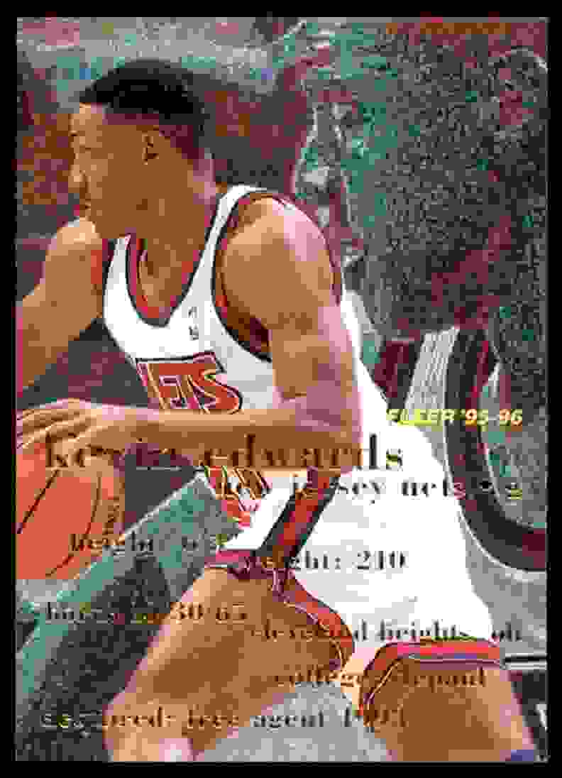 1995-96 Fleer Kevin Edwards #239 card front image
