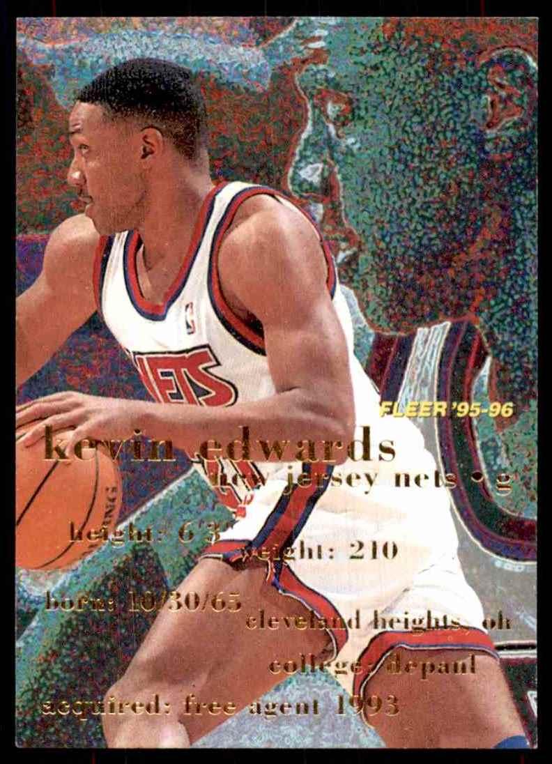 1995-96 Fleer Kevin Edwards #239 card front image
