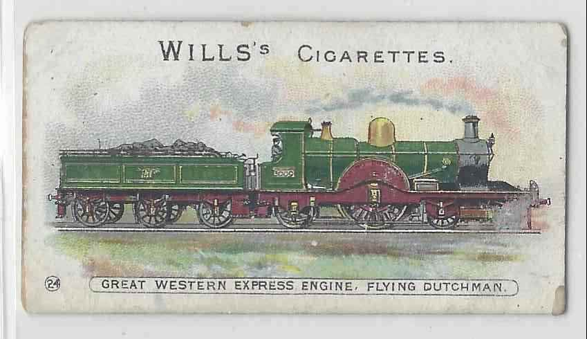 1901 Will's Locomotives & Rolling Stock Great Western Express Engine Flying Dutchman #24 card front image