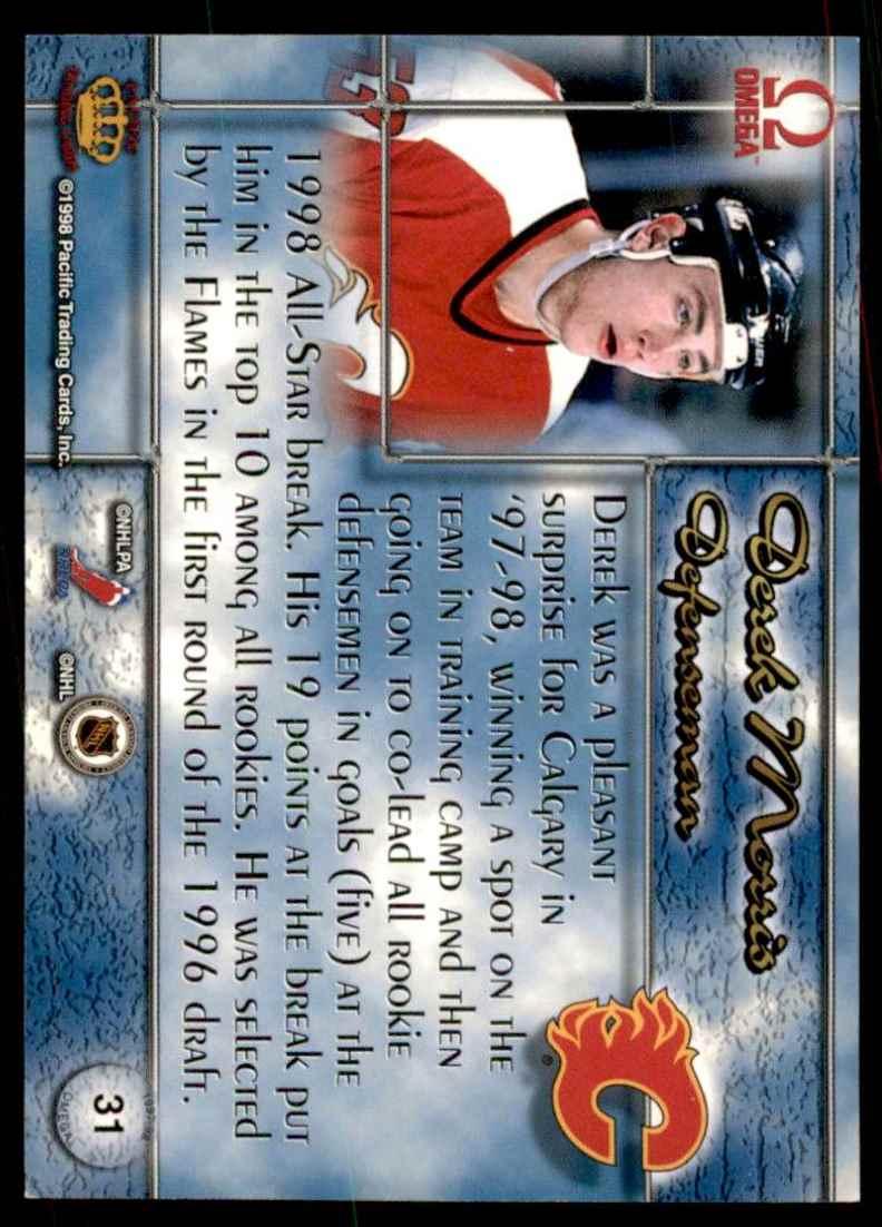 1997-98 Pacific Omega Derek Morris RC #31 card back image