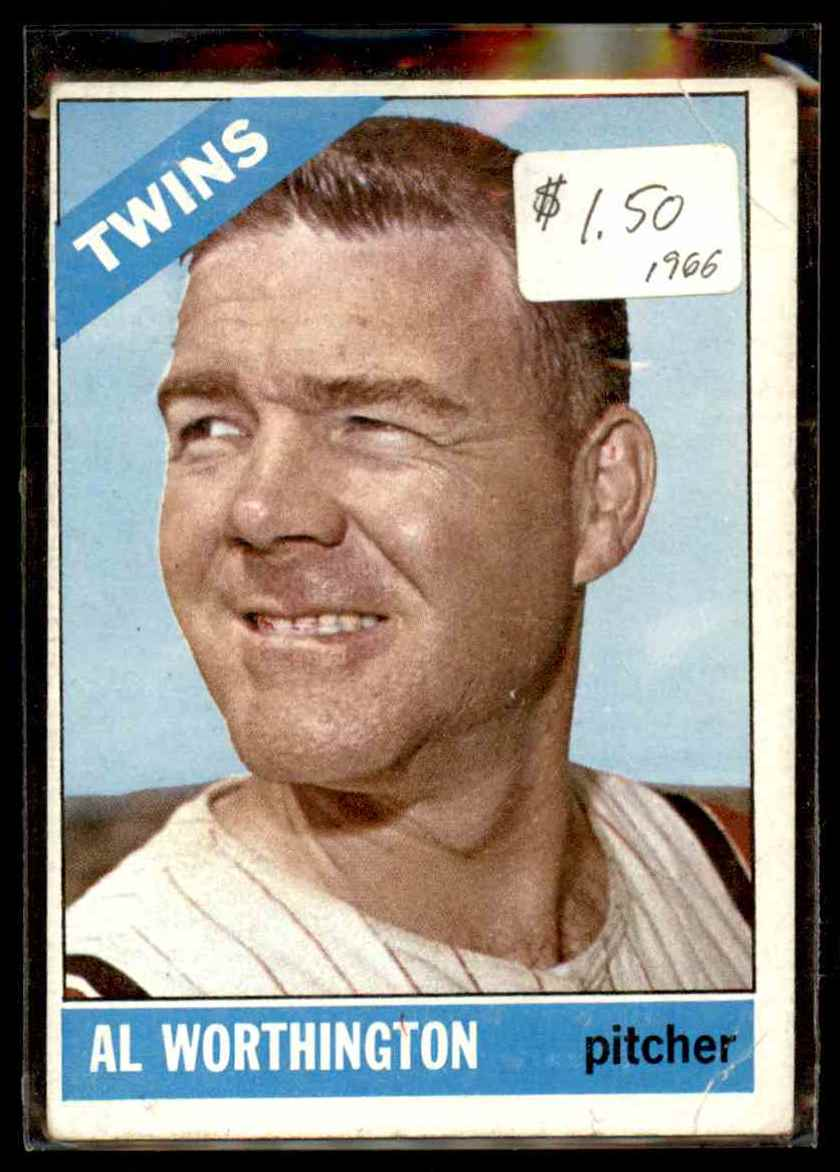 1966 Topps Al Worthington #181 card front image