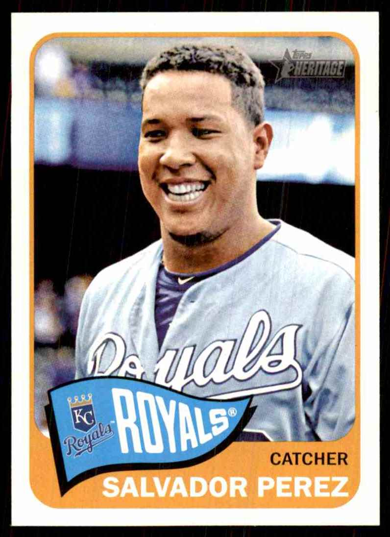 2014 Topps Heritage Salvador Perez #31 card front image