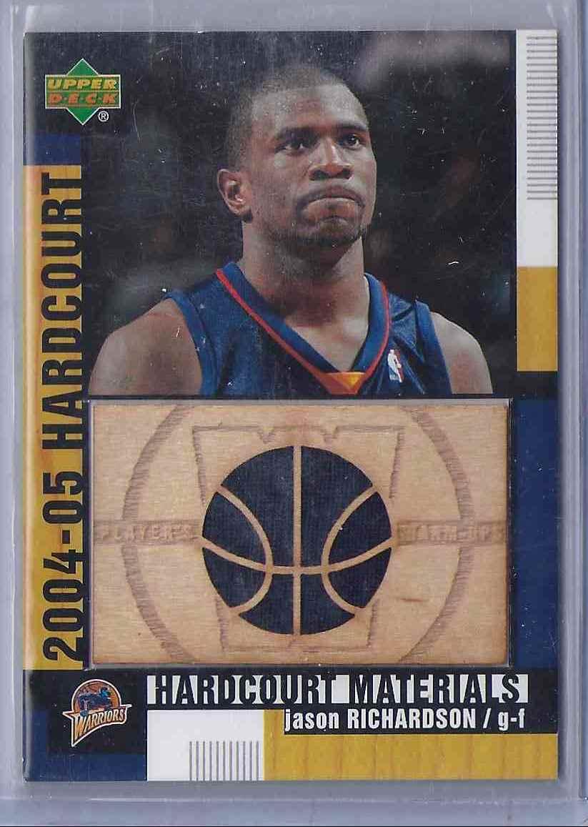 2004-05 Upper Deck Hardcourt Materials Combo Jason Richardson #JR card front image