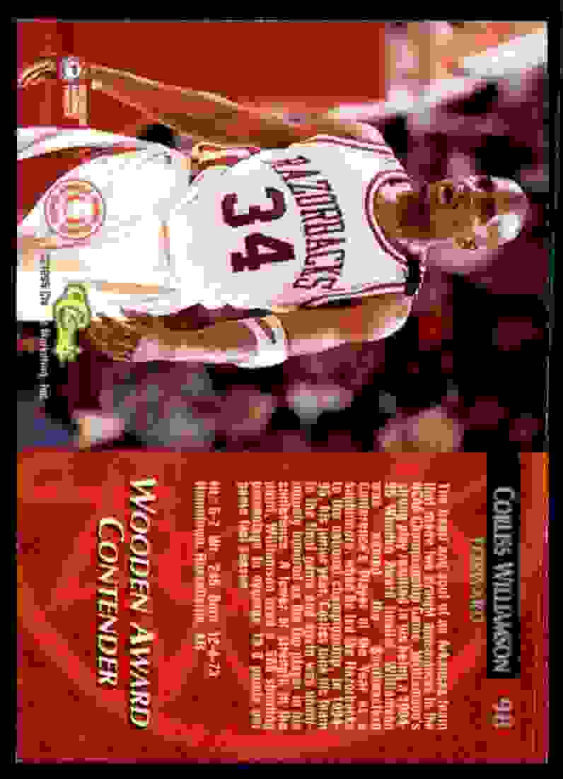 1995-96 Classic Corliss Williamson Aw #98 card back image