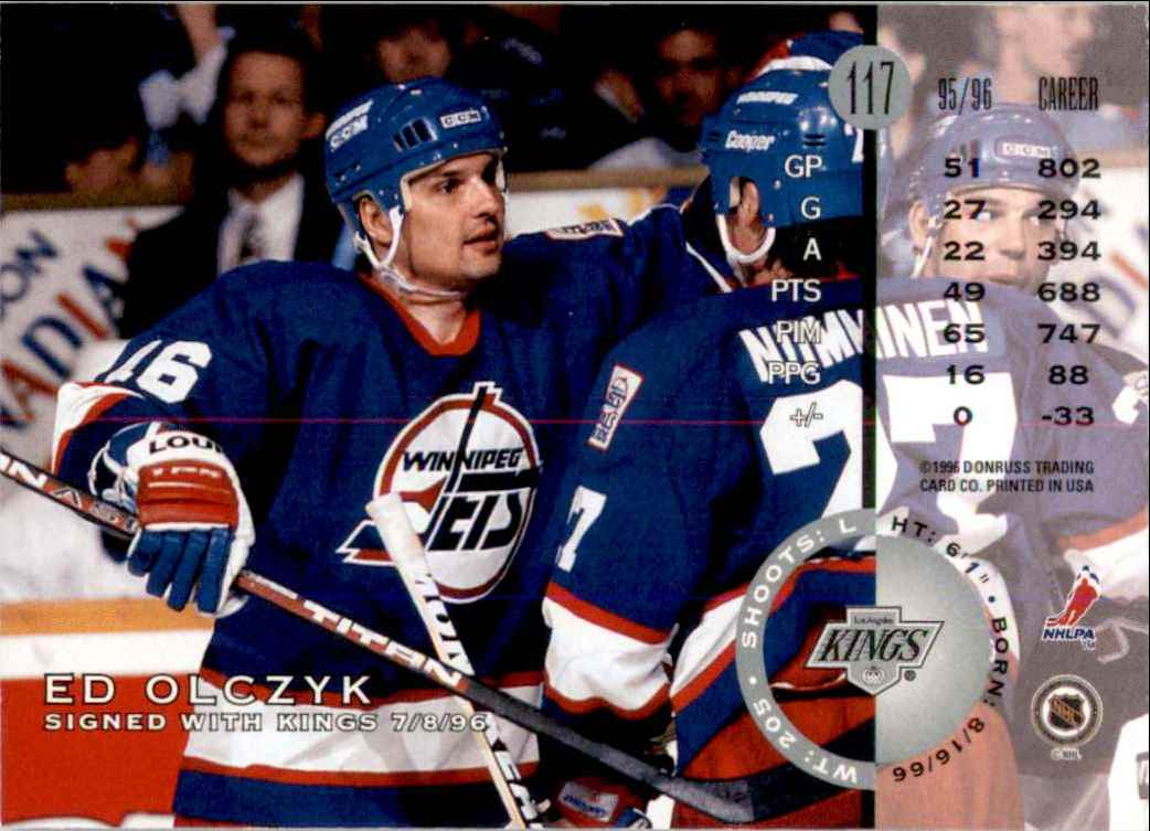 1996-97 Leaf Ed Olczyk #117 card back image