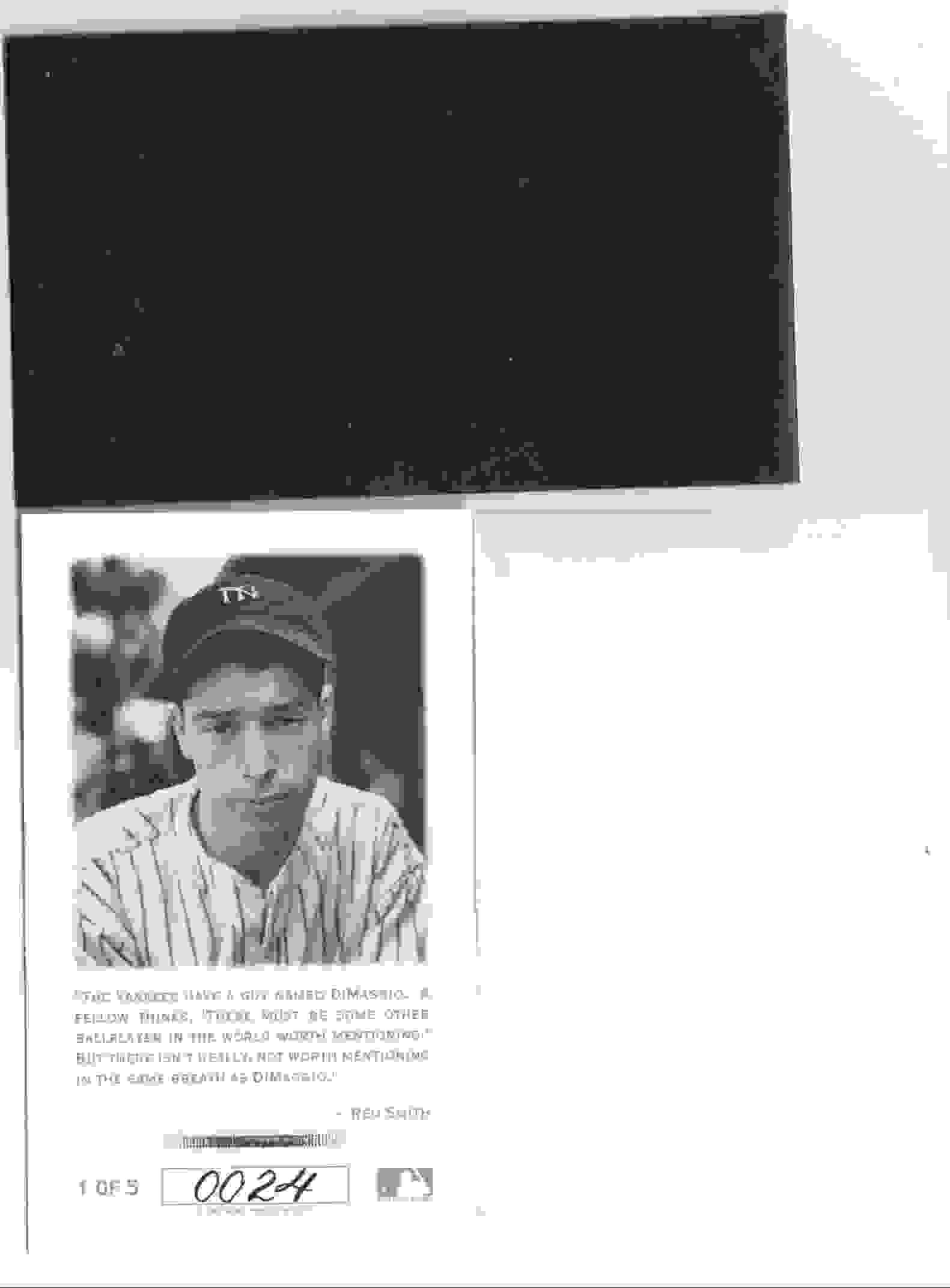 1993 Score Joe DiMaggio #5 card back image