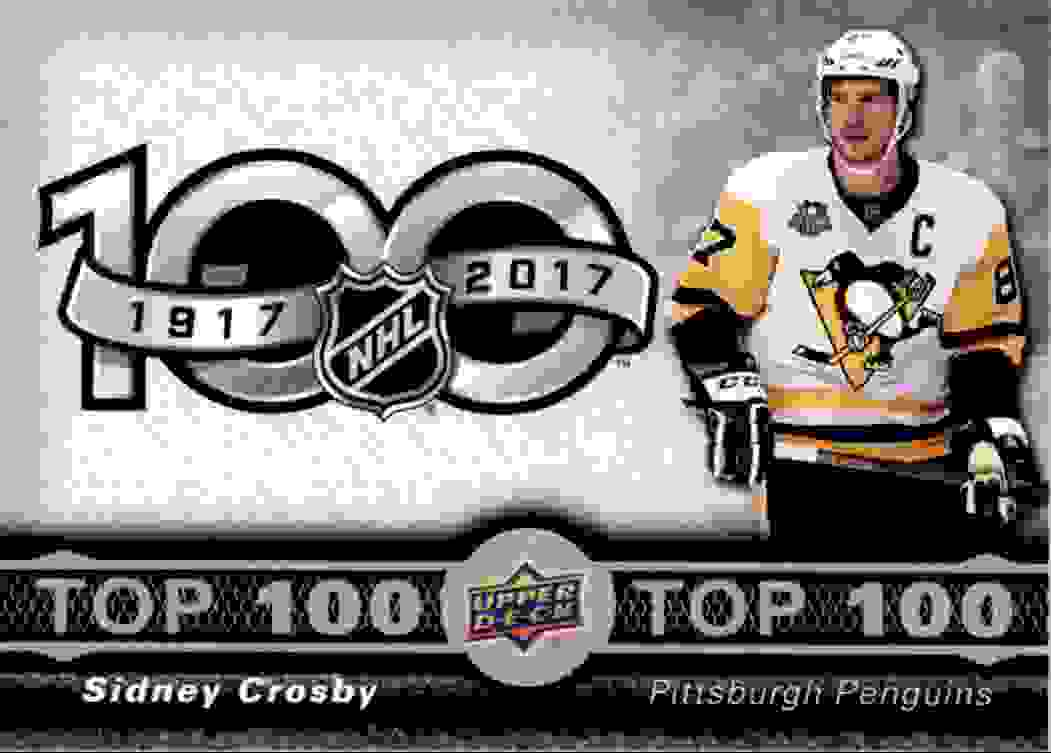 2017-18 Upper Deck Tim Hortons Top 100 Sidney Crobsy #TOP-1 card front image